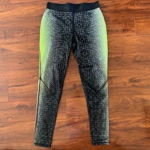 Nike Pro Dri Fit Leggings Neon Full Length Large